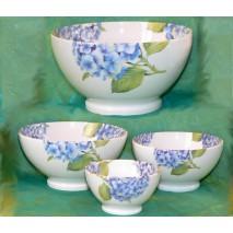 décor hortensia bleu