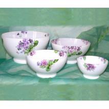 décor violettes