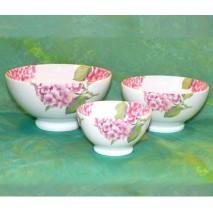 décor hortensia rose