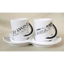 """duo café """"décor journaux"""""""
