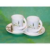 Café duo 3 pièces décor bambou