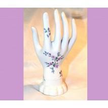 baguier en porcelaine décor fleurs de printemps