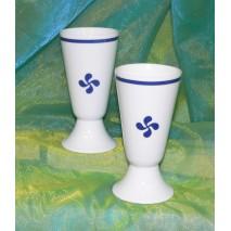 mazagran décor croix Basque bleu