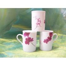 """Mug anglais """"Orchidée Fuschia"""""""