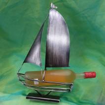 Porte bouteille Bateau métal