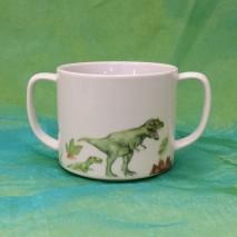 Gobelet 2anses décor dinosaure