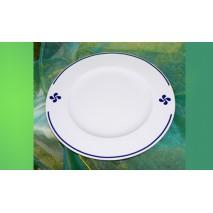 Assiette plate Croix basque B