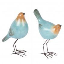 Couple d'oiseaux bleus décoratifs