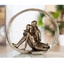 """Sculpture Couple """"dévouement"""""""
