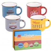 Coffret 4 mugs vintage