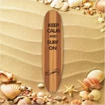 Plaque en métal planche de surf