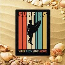 Plaque en métal surf