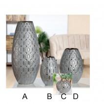 Vase et bougeoir argenté