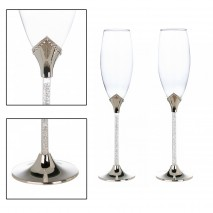 Coffret 2 flûtes à champagne (effet swarovsky)