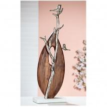 Sculpture métal et bois