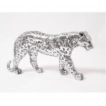 Panthère léopard argentée