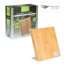 Support à couteaux universel aimanté en bambou