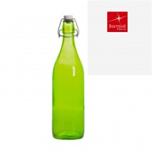 Bouteille limonade verte anis avec bouchon mécanique