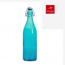 Bouteille limonade bleu océan avec bouchon mécanique