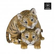 Bébés tigres joueurs statuette