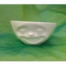 "Bols en porcelaine blanche ""Visage"" 350ml"