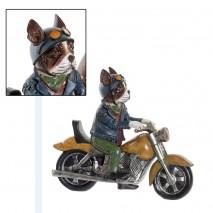 Chien vintage sur moto
