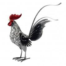 Coq en métal (fait et peint main)