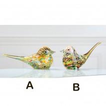 Oiseaux de collection en verre soufflé