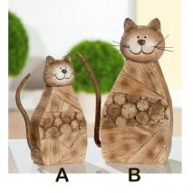 """Chat """"Forêt"""" effet bois"""