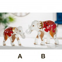 Eléphant dominante rouge
