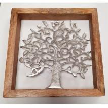 Cadre arbre de vie bois et métal