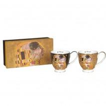 Ensemble 2 tasses déjeuner G.Klimt
