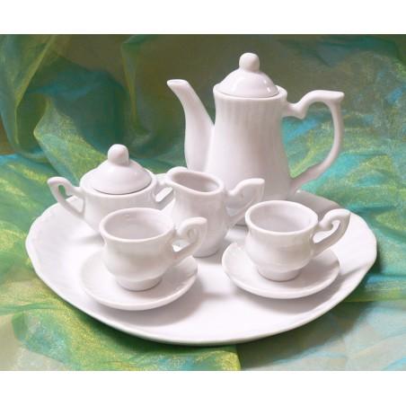 Service dinette miniature en porcelaine