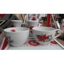 Grande tasse ou jumbo fleur rouge poinsettia