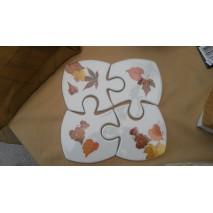 puzzle dessous de plat décors feuilles d'automne