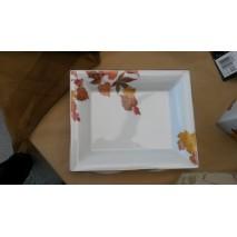 """Vide poche forme """"Hermès"""" décors feuilles d'automne"""