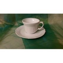 Tasse café conique et sous tasse Forme Choiseul