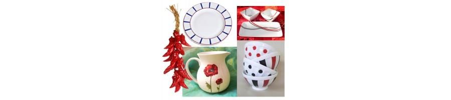 Une sélection de porcelaine décorée par nos soins dans notre atelier. La porcelaine et ses décors sont compatibles avec le lave vaisselle