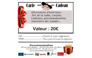 Carte cadeaux 20€
